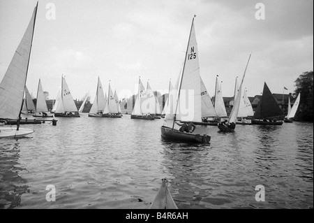 Tamesis Sailing Club s opening regatta of the season on the Thames at Teddington April 1946 - Stock Photo