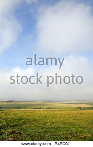 Countryside landscape in west sussex - Stock Photo