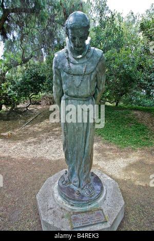 Bronze statue by Arthur Putnam named Padres in Presidio Park San Diego CA. - Stock Photo