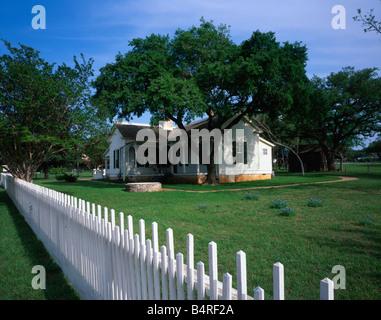 The boyhood home of president lyndon b johnson is open to public president lyndon b johnson boyhood home national historic park texas usa stock photo publicscrutiny Image collections