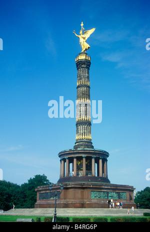 victory column in Berlin - Stock Photo