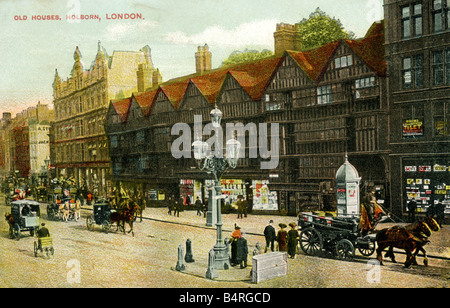 Old vintage Topographical British Picture Postcard 1900s 1910s of Holborn London FOR EDITORIAL USE ONLY - Stock Photo