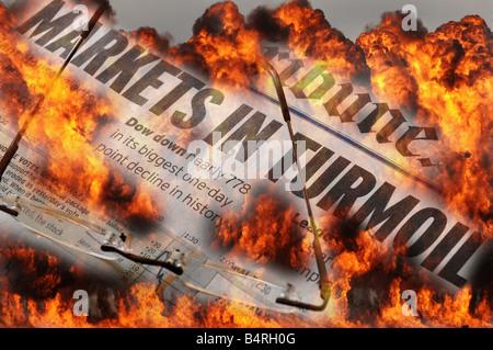 Stock Markets In Turmoil - Stock Photo