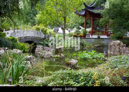 St. Louis, Missouri. Chinese Garden, Missouri Botanical Garden Stock ...