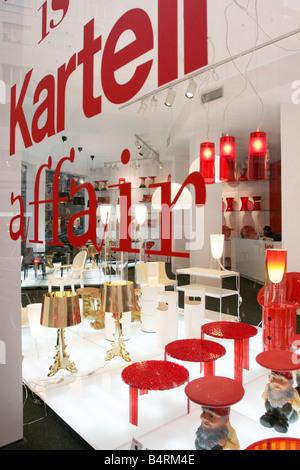Kartell design shop Via Turati Milan Lombardy Italy Stock Photo ...