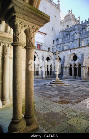 Sé (Cathedral) cloisters, Porto Old Town (UNESCO World Heritage), Portugal - Stock Photo
