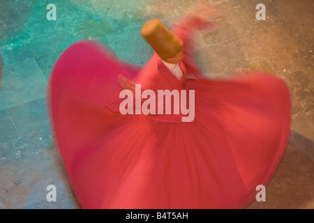 Whirling Dervishes (The Mevlevi), performing the Sema (ceremony), Istanbul, Turkey - Stock Photo