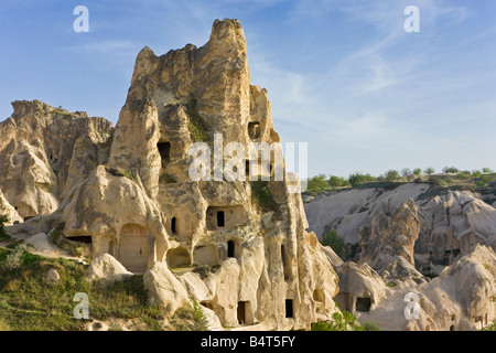 Rock Church in 'Goreme Open Air Museum', Goreme, Cappadocia, Anatolia, Turkey - Stock Photo