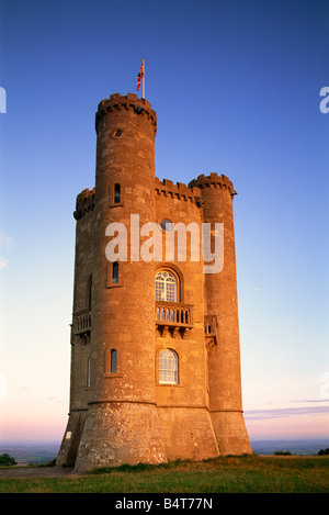 England, Worcestershire, Cotswolds, Broadway Tower - Stock Photo