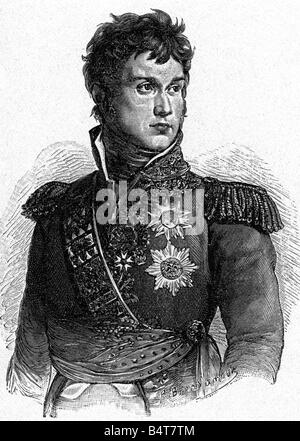 Lannes, Jean, 10.4.1769 - 31.5.1809, French General,  half length, wood engraving, 19th century, , - Stock Photo
