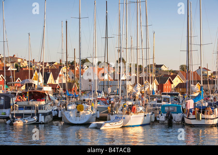 SWEDEN WEST COAST BOHUSLÄN FJÄLLBACKA HARBOUR - Stock Photo