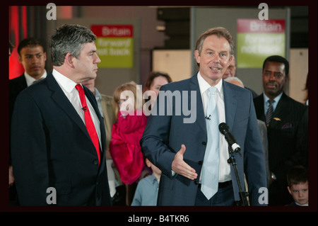 Thursday 7 April 2005 Old Billingsgate Market London At a poster launch this morning the Prime Minister Tony Blair - Stock Photo