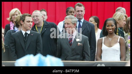 Prince s Trust 2004 Party in the Park London Prince Charles Prince of Wales with Prince s trust Ambassadors Will - Stock Photo