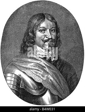 Torstensson, Lennart, 17.8.1603 - 7.4.1651, Swedish General, portrait, copper engraving by J. Falck after painting - Stock Photo