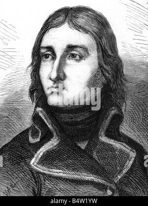 Lannes, Jean, 10.4.1769 - 31.5.1809, French General, portrait, circa 1798, wood engraving, 19th century, , - Stock Photo