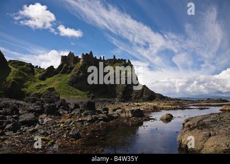 Dunluce Castle, County Antrim, Northern Ireland - Stock Photo