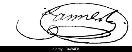 Lannes, Jean, 10.4.1769 - 31.5.1809, French General, signature, , - Stock Photo