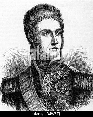 Lannes, Jean, 10.4.1769 - 31.5.1809, French General,  portrait, wood engraving, 19th century, , - Stock Photo