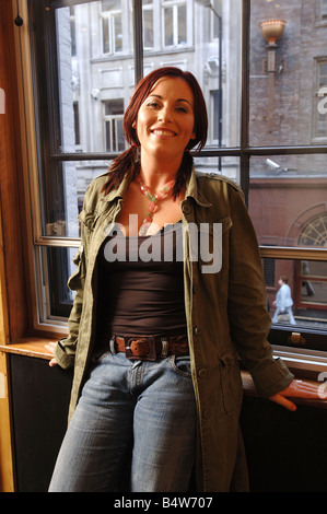 Actress Jessie Wallace who plays Kat in the BBC soap opera Eastenders In London today for an interview with the - Stock Photo