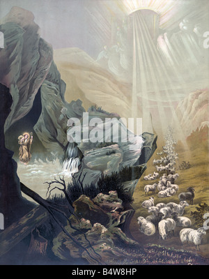 The Lost Sheep, Religious Art - Stock Photo