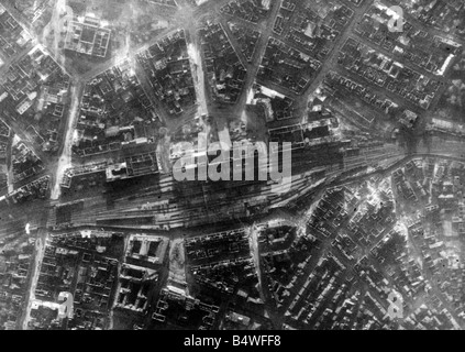 Aerial view showing bomb damage around St Martin's Church in the Bull Stock Photo, Royalty Free ...