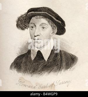 Henry Howard, Earl of Surrey, 1517 -1547.  English aristocrat and poet. - Stock Photo