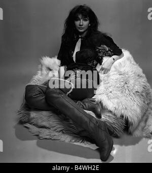 Singer Kate Bush in the studio March 1978 - Stock Photo
