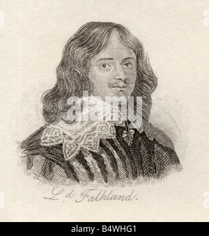 Lucius Cary 2nd Viscount Falkland 1610 to 1643 English politician soldier and author. - Stock Photo