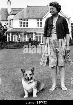 Lady Megan Lloyd George pictured at her home at Brynawelon near Criccieth June 1964 - Stock Photo