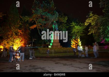 Enchanted evenings event held at Botanic Gardens in Belfast northern ireland - Stock Photo