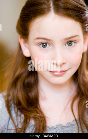 Portrait redheaded girl - Stock Photo