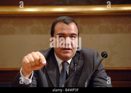 Mario Scaramella during a press conference in the Senate House in Rome, Italy.;Mr Scaramella had lunch in London - Stock Photo
