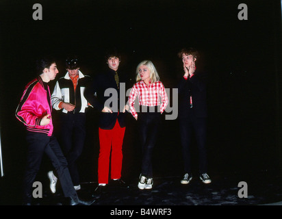 Debbie Harry April 1977 With pop group Blondie - Stock Photo