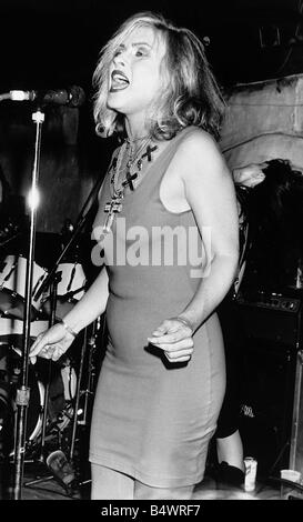 Debbie Harry pop singer on stage 1989 - Stock Photo