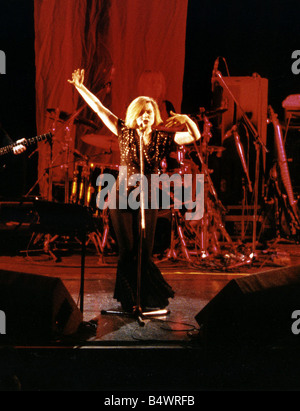 Debbie Harry Singer and leader of pop group Blondie performing on stage - Stock Photo