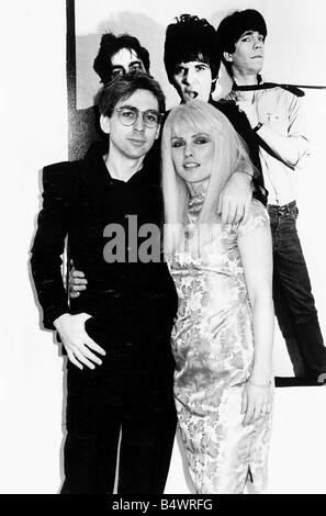 Debbie Harry Singer leader of the pop group Blondie with boyfriend Chris Stein - Stock Photo