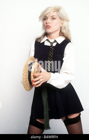 Debbie Harry singer of the pop group Blondie - Stock Photo