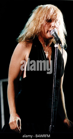 Debbie Harry lead singer of Pop Group Blondie - Stock Photo