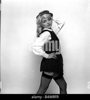 Debbie Harry Blondie singer dressed as a schoolgirl 1978 - Stock Photo