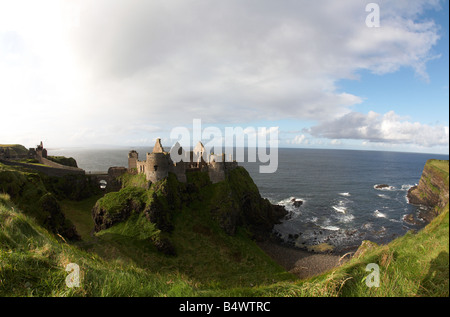 dunluce castle and the north antrim coastline county antrim northern ireland uk - Stock Photo