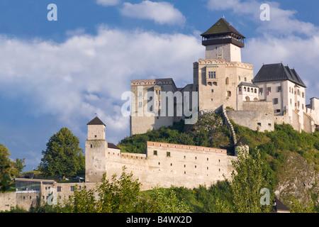 Trencin castle a medival fortified castle, Trencin, Slovakia - Stock Photo