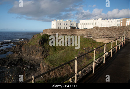 clifftop pathway past the dominican convent in portstewart county londonderry derry northern ireland uk - Stock Photo