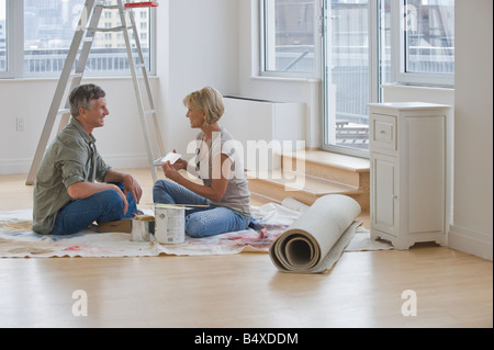 Couple painting room - Stock Photo