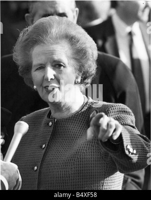 Margaret Thatcher at the foundation stone laying ceremony at St Peter s Basin Newcastle Quayside - Stock Photo
