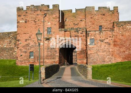 Carlisle Castle Gate House. Carlisle, Cumbria, England, United Kingdom. - Stock Photo