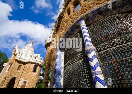 Parc Güell Barcelona Catalunya Cataluña Spain - Stock Photo