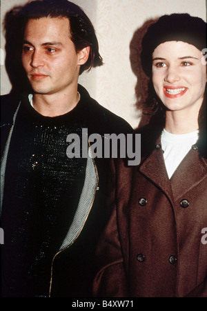 Johnny Depp and Juliette Lewis 1992 - Stock Photo