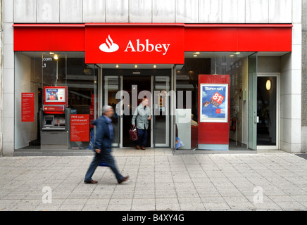 Abbey bank in Plymouth - Stock Photo