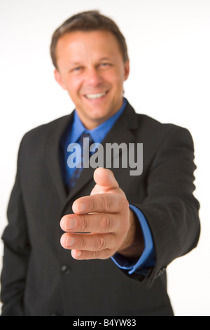 Businessman Greeting - Stock Photo