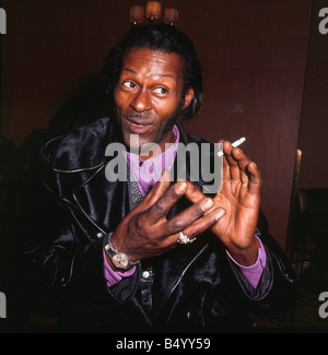 Chuck Berry singer songwriter January 1973 - Stock Photo